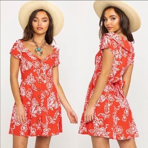 Free People A Thing Called Love Mini Dress